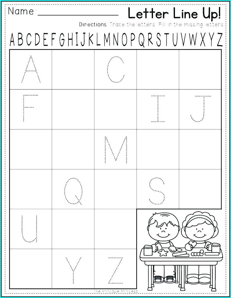 Kindergarten Alphabet Writing Practice Worksheets Pdf