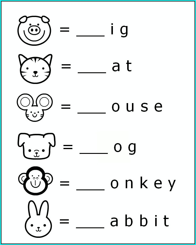Kindergarten Beginning Letter Worksheets