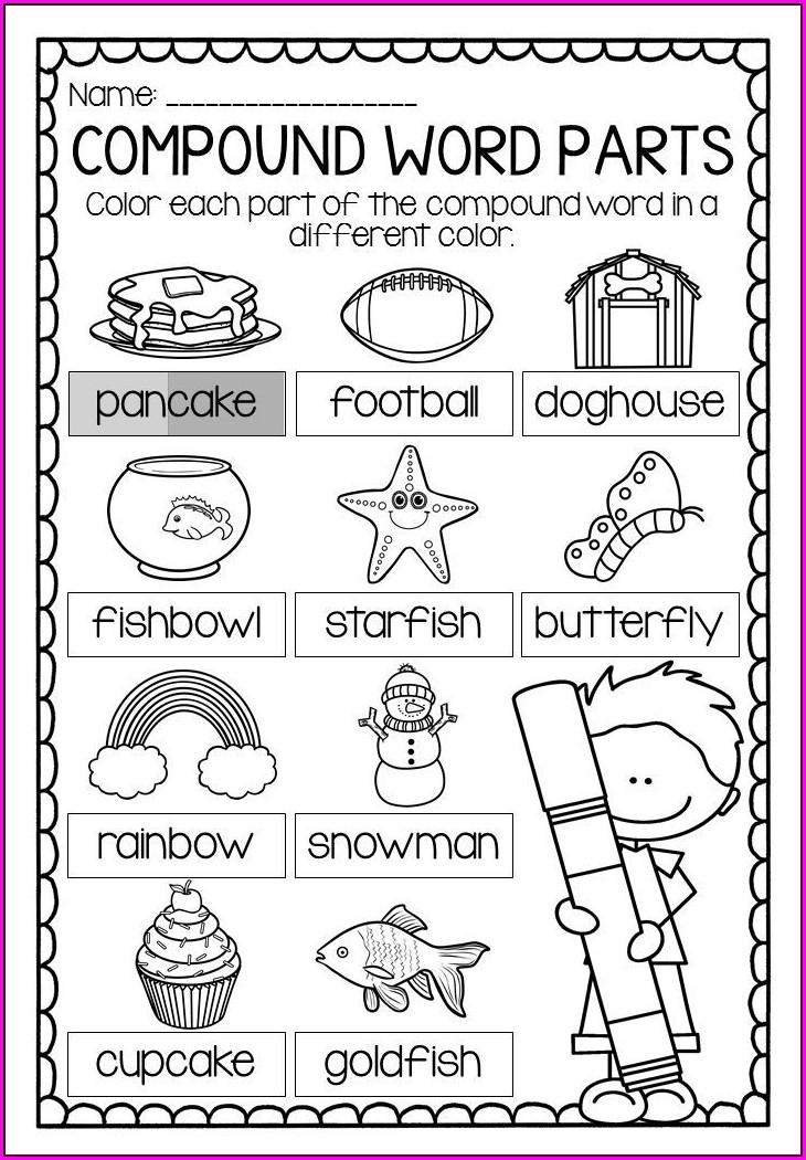 Kindergarten Compound Words Worksheet Grade 1
