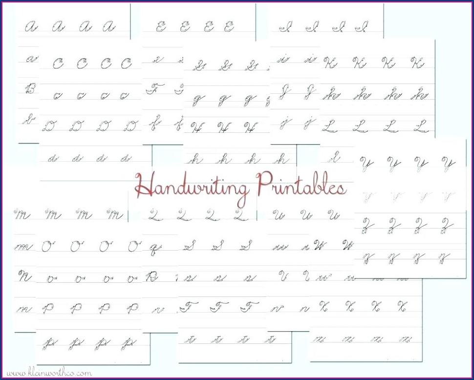 Kindergarten Cursive Writing Worksheets Pdf