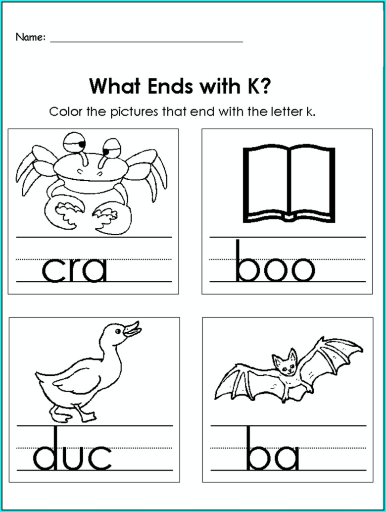 Kindergarten Letter K Worksheets For Preschool