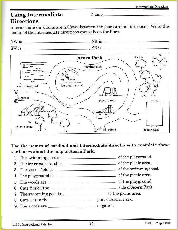 Kindergarten Map Worksheet Printables