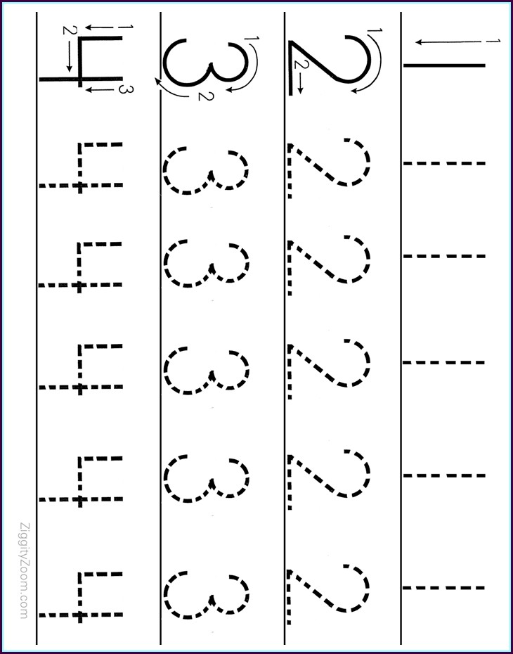 Kindergarten Math Worksheets Number Tracing