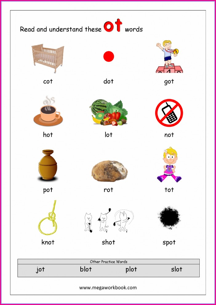 Kindergarten Od Word Family Worksheets