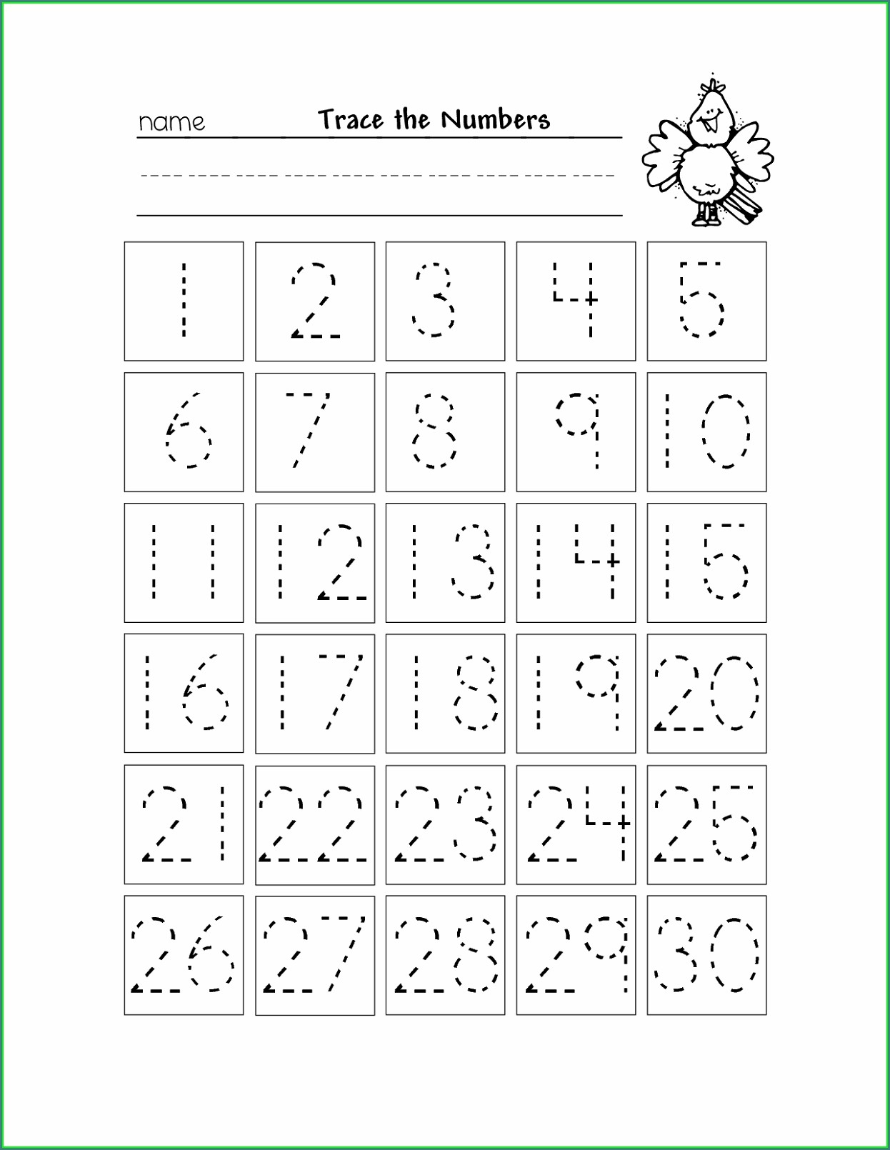 Kindergarten Tracing Numbers 1 50 Worksheets