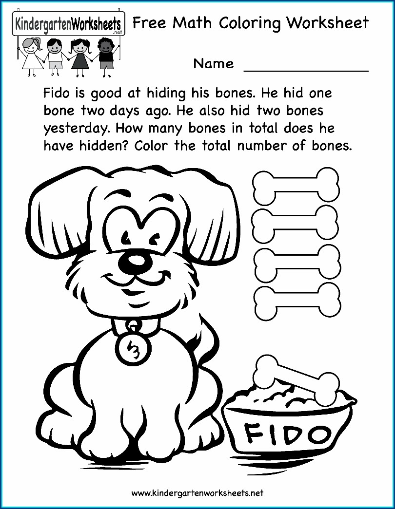 Kindergarten Worksheet In Math
