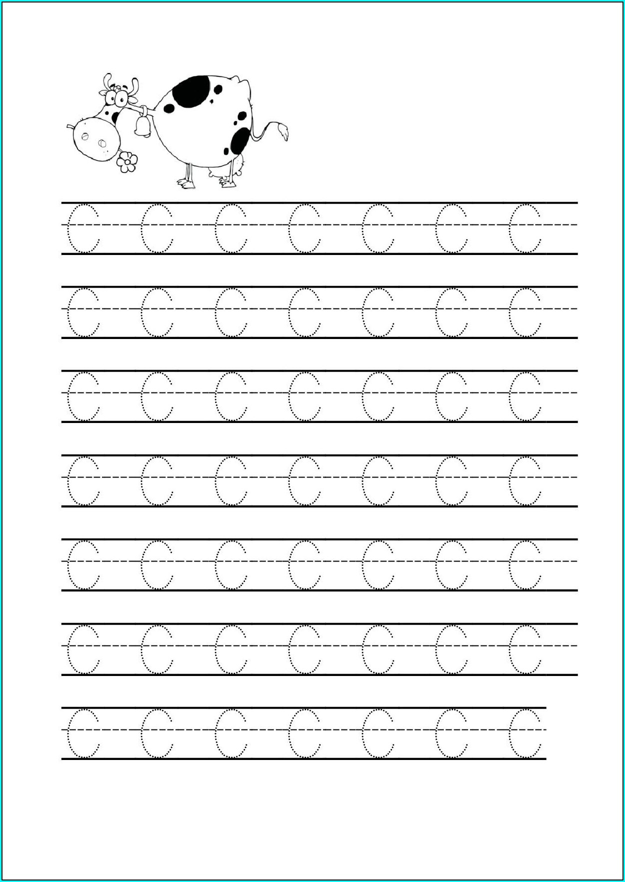 Kindergarten Worksheets Letter C