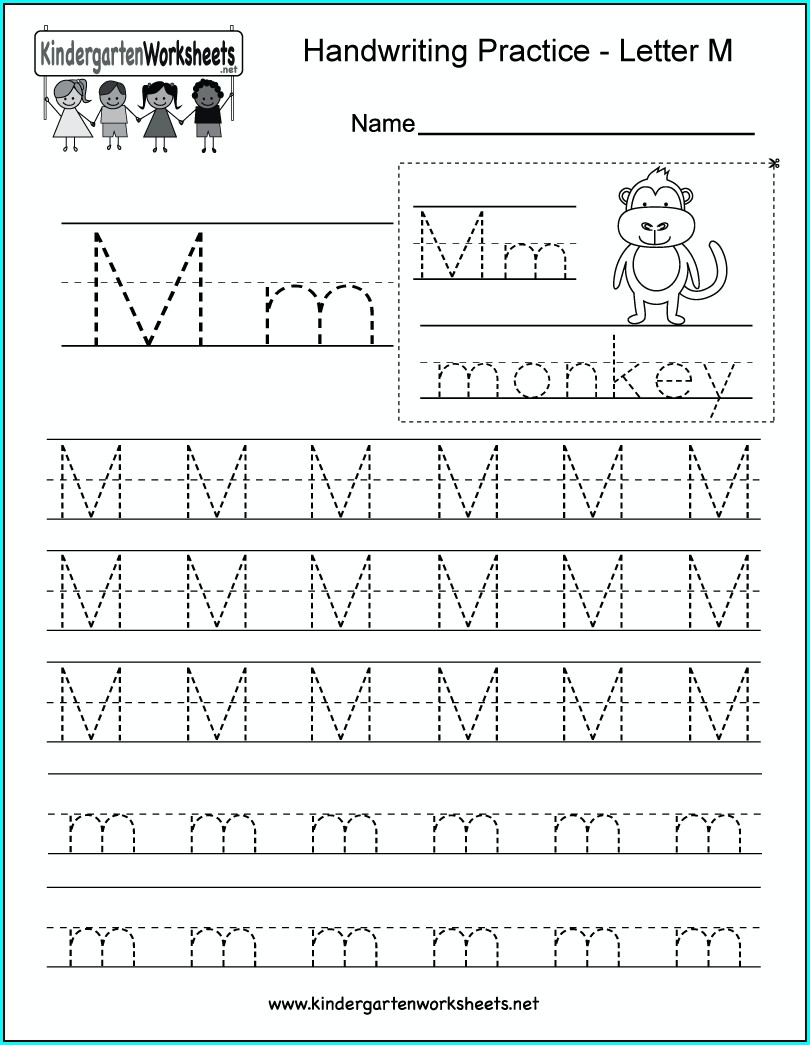 Kindergarten Worksheets Letter M Worksheets