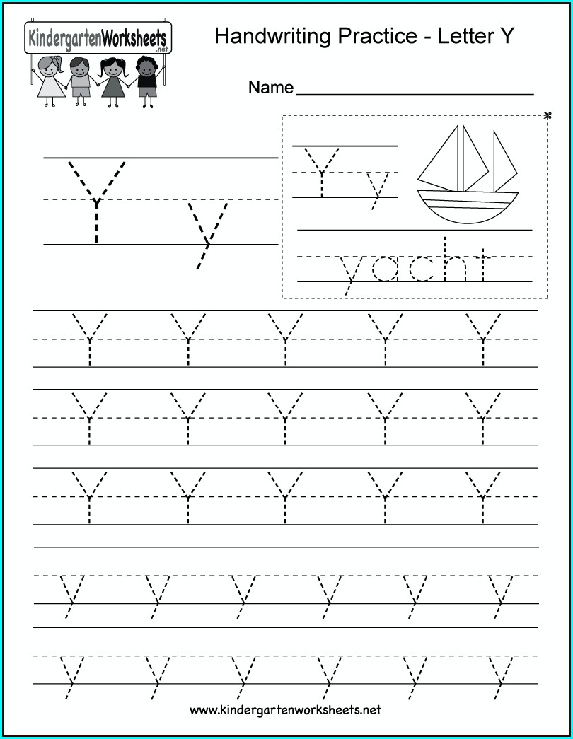 Kindergarten Worksheets Letter Y Worksheets