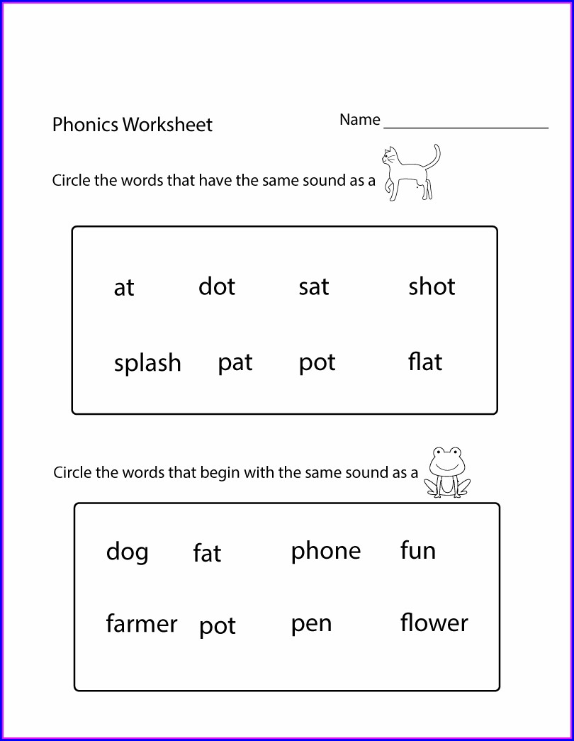 Kindergarten Worksheets Pdf Free