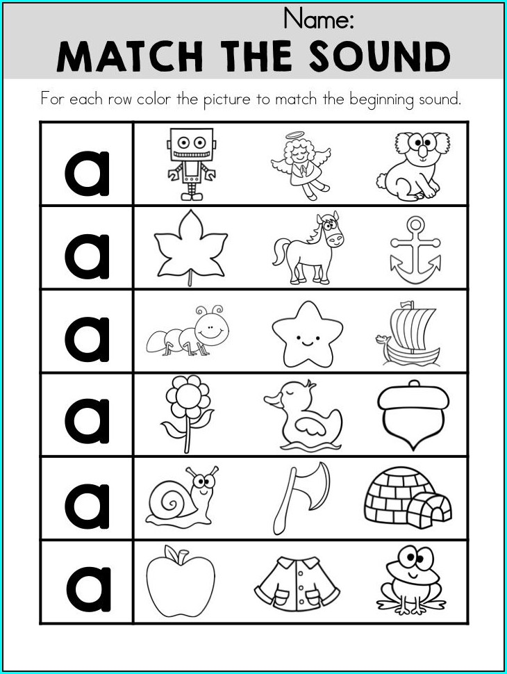 Letter Discrimination Worksheets Kindergarten