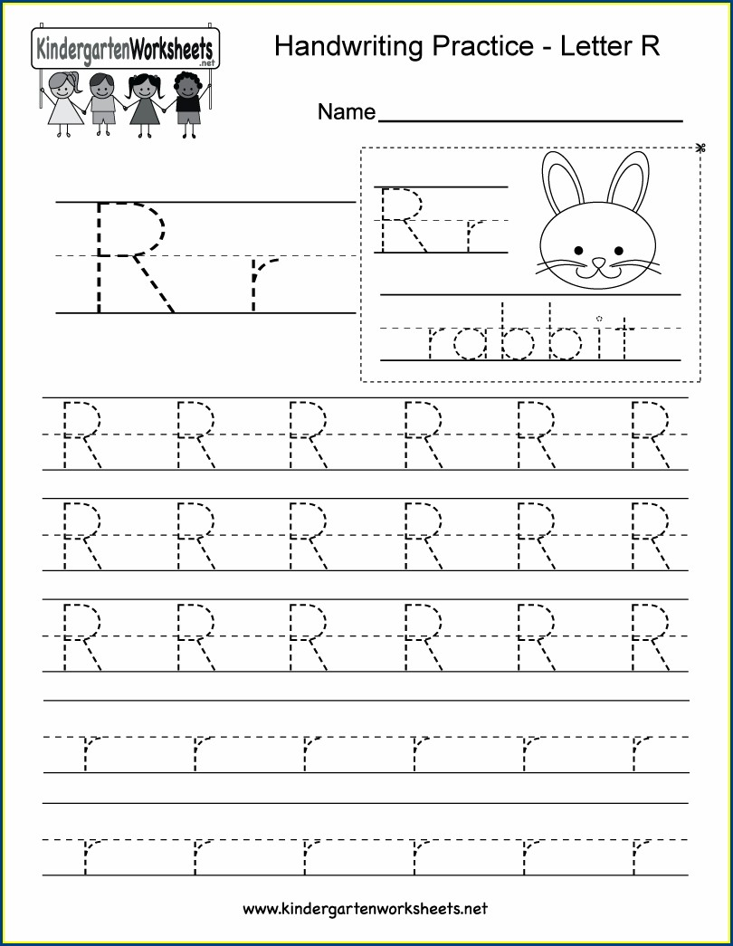 Letter R Writing Worksheet