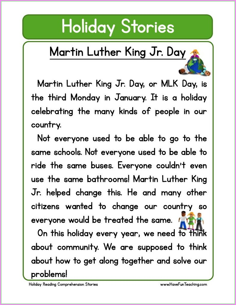 Martin Luther King Jr Lesson 3rd Grade