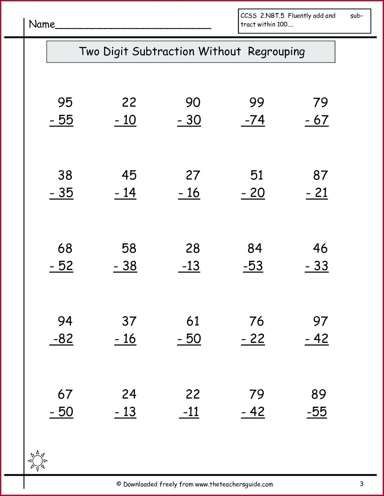 Math Addition Worksheets 2 Digits