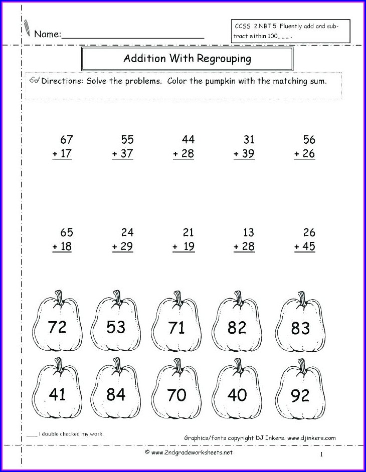 Math Exercises For Year 2