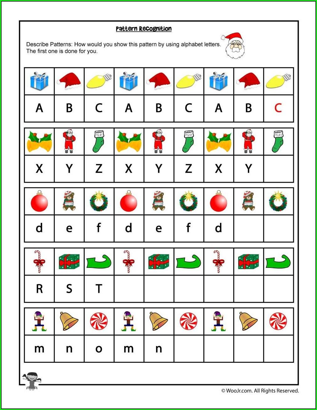 Math Pattern Recognition Worksheets