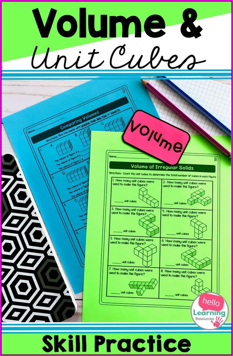 Math Volume Word Problems Worksheets