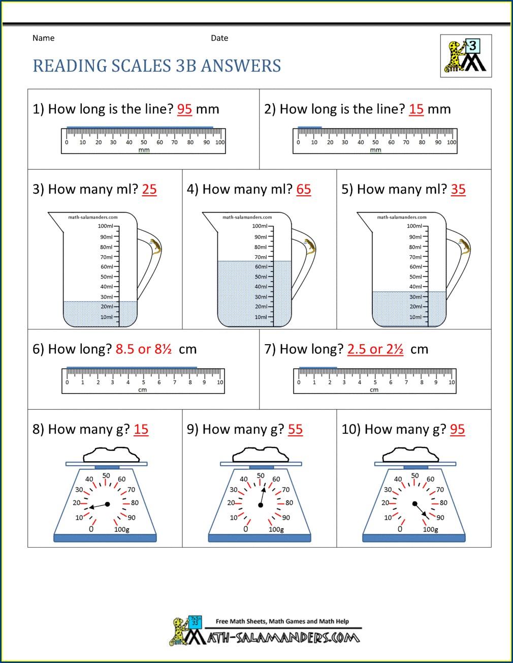 Math Worksheet For 3rd Grade Pdf