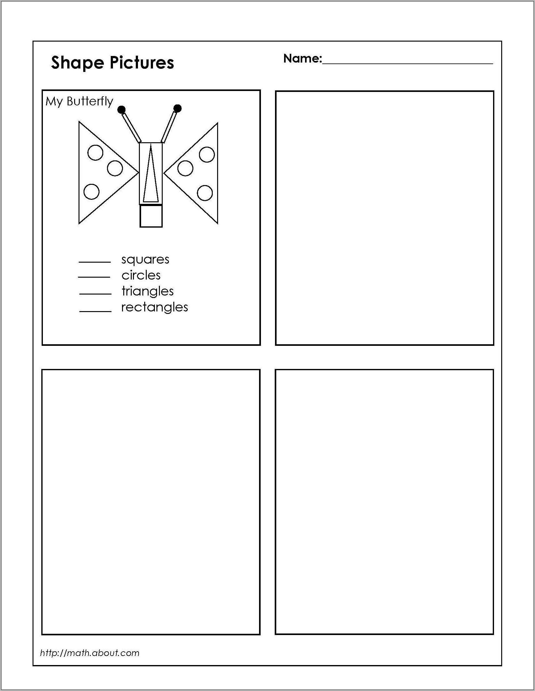 Math Worksheet For Grade 2 Shapes