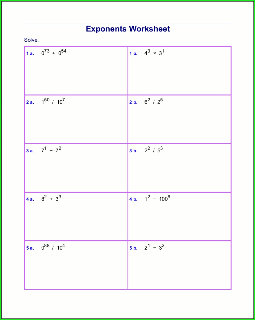 Math Worksheet Generator Logarithms