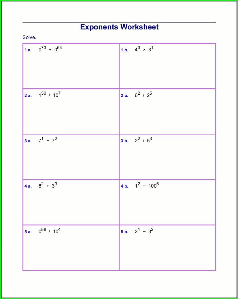 Math Worksheet Generator Logarithms