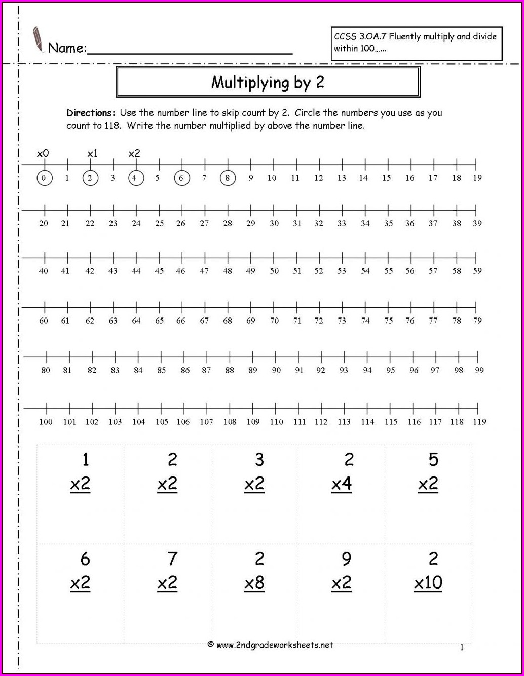 Math Worksheet Multiplication And Division