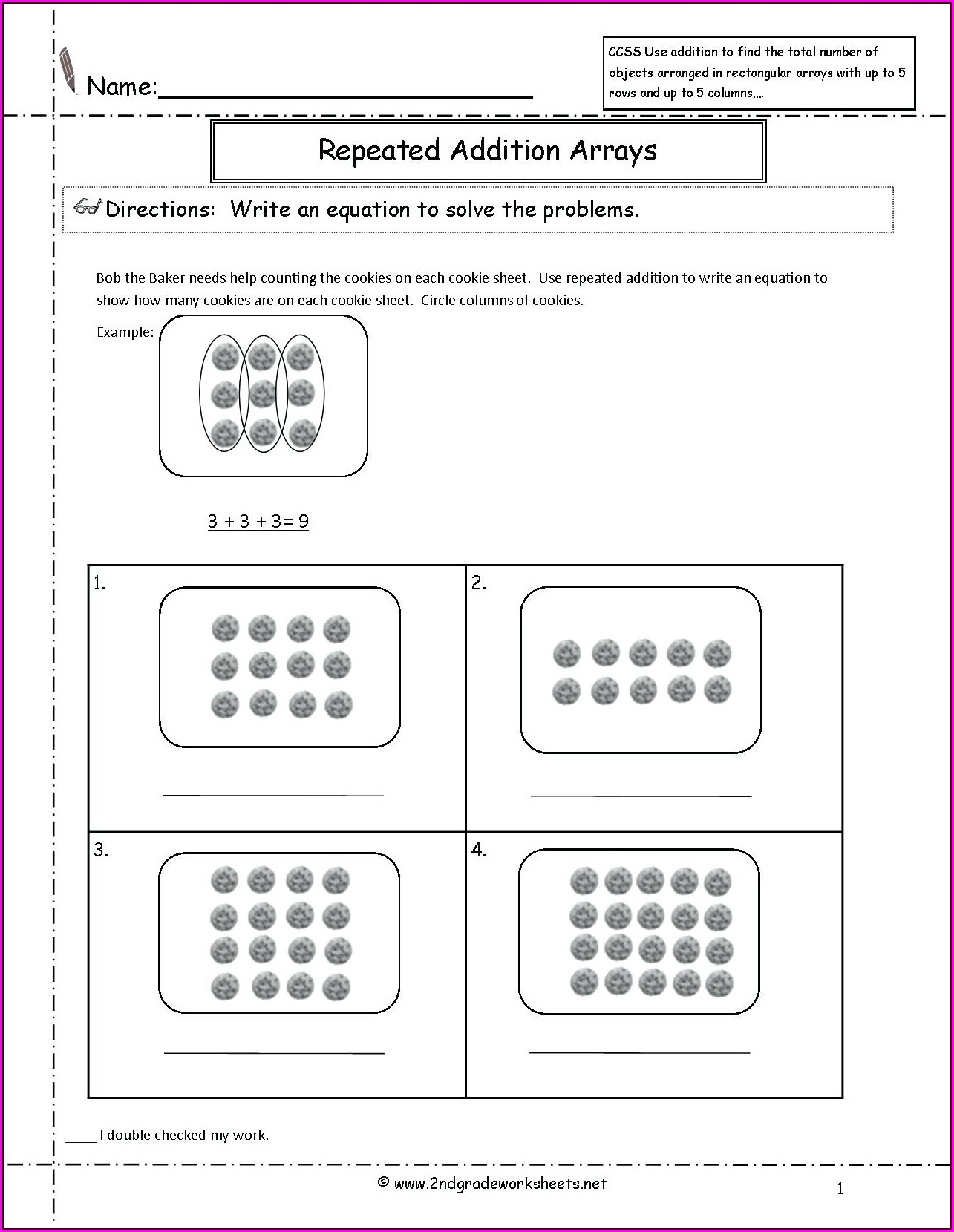 Math Worksheet On Multiplication For Grade 4