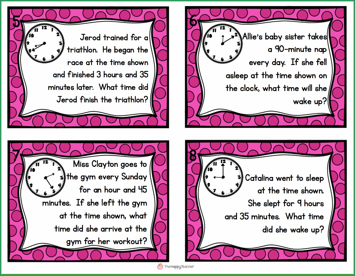 Math Worksheet On Time For Grade 3
