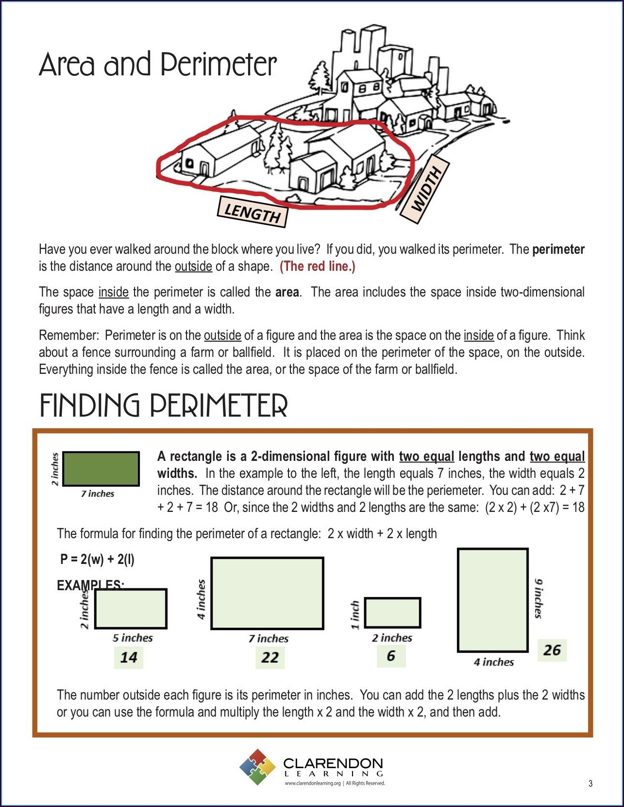 Math Worksheets Area And Perimeter