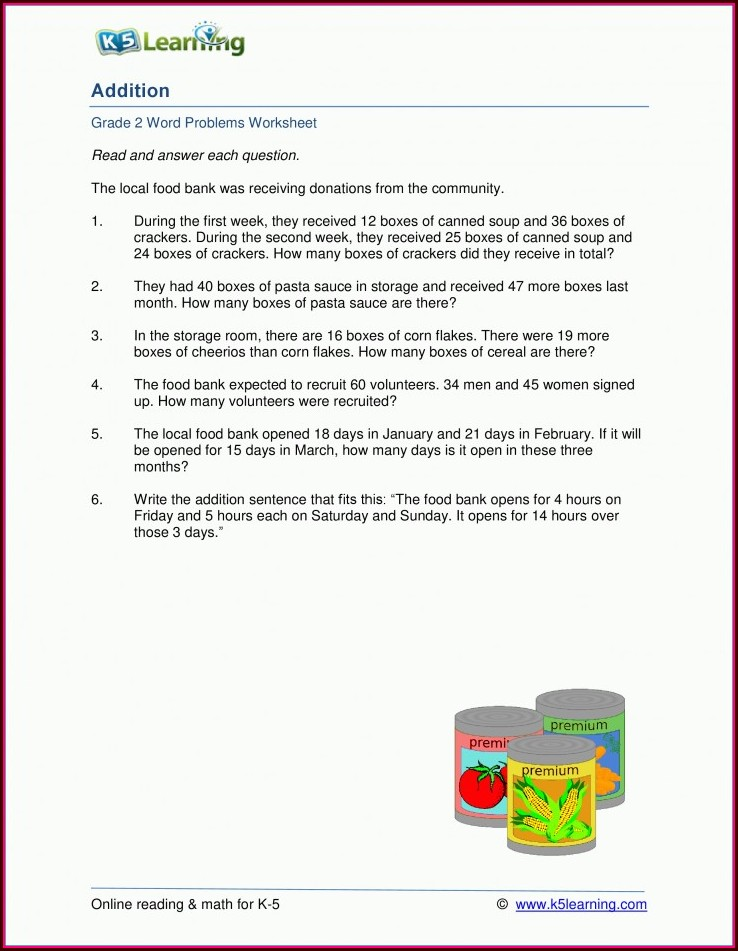 Math Worksheets For Grade 2 Time Word Problems