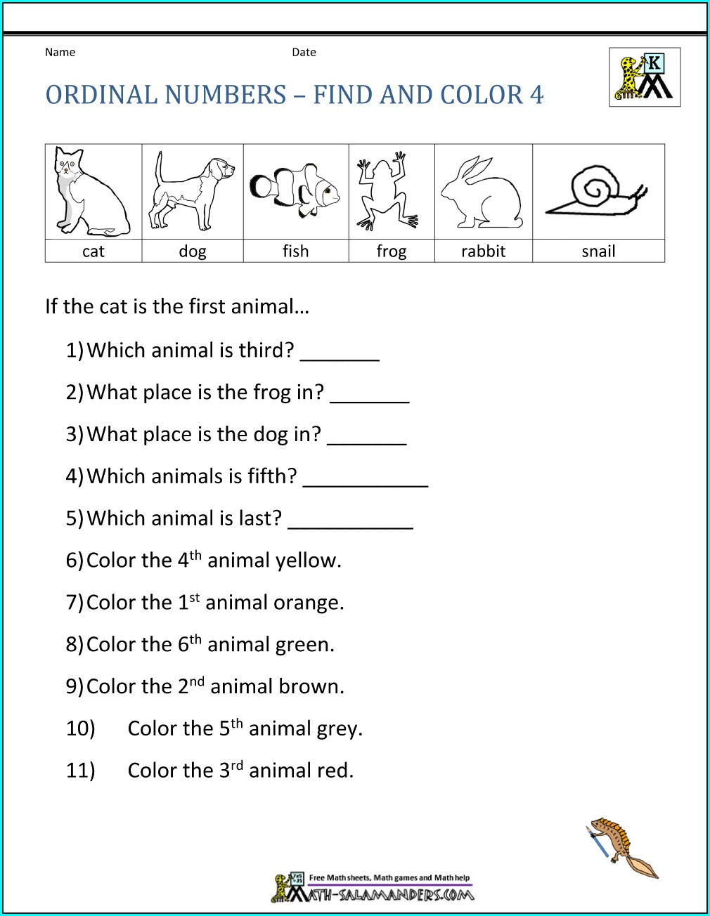 Math Worksheets For Grade One And Two