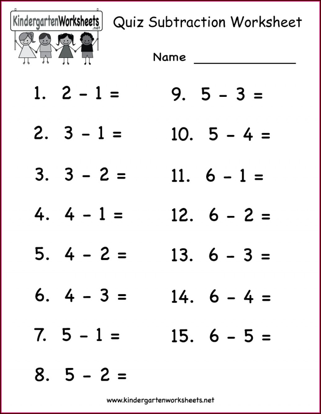 Math Worksheets For Kindergarten Counting 1 10
