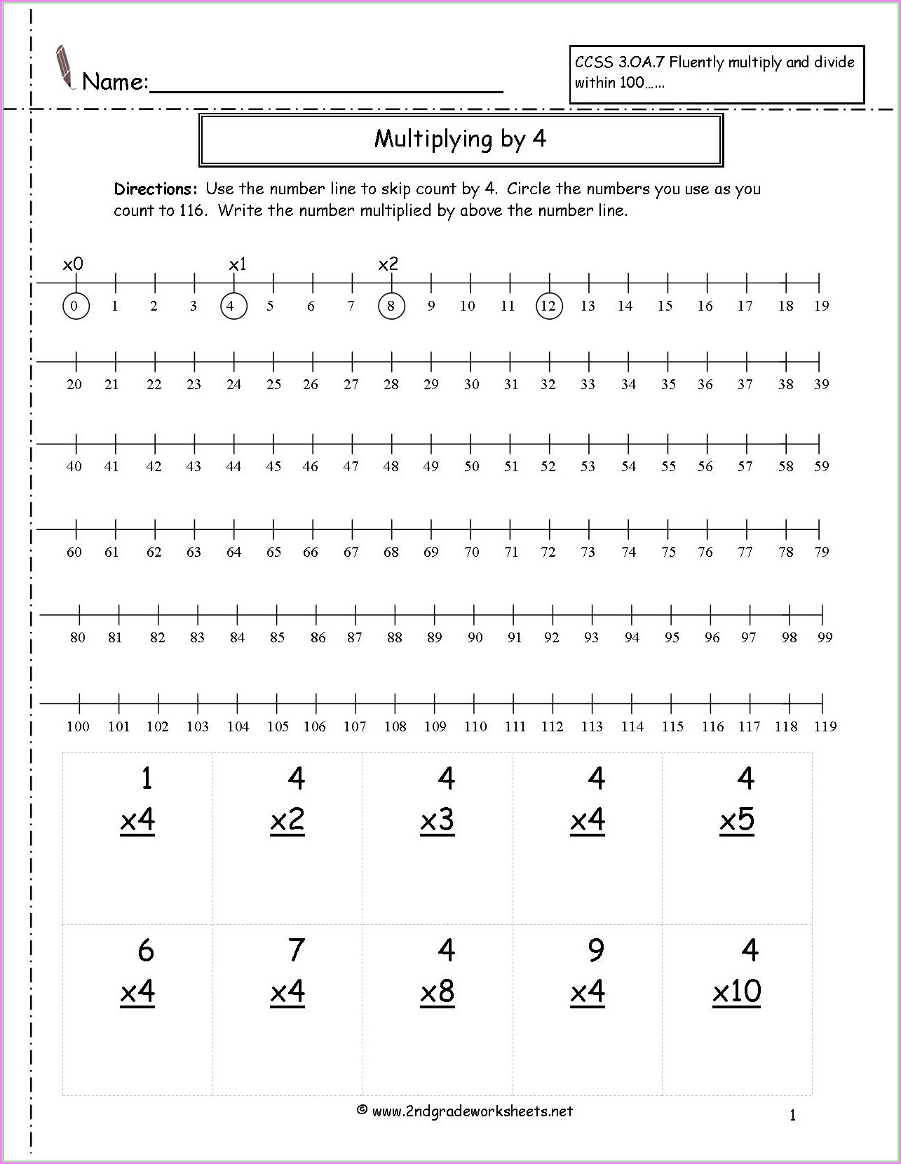 Math Worksheets Number Line Decimals
