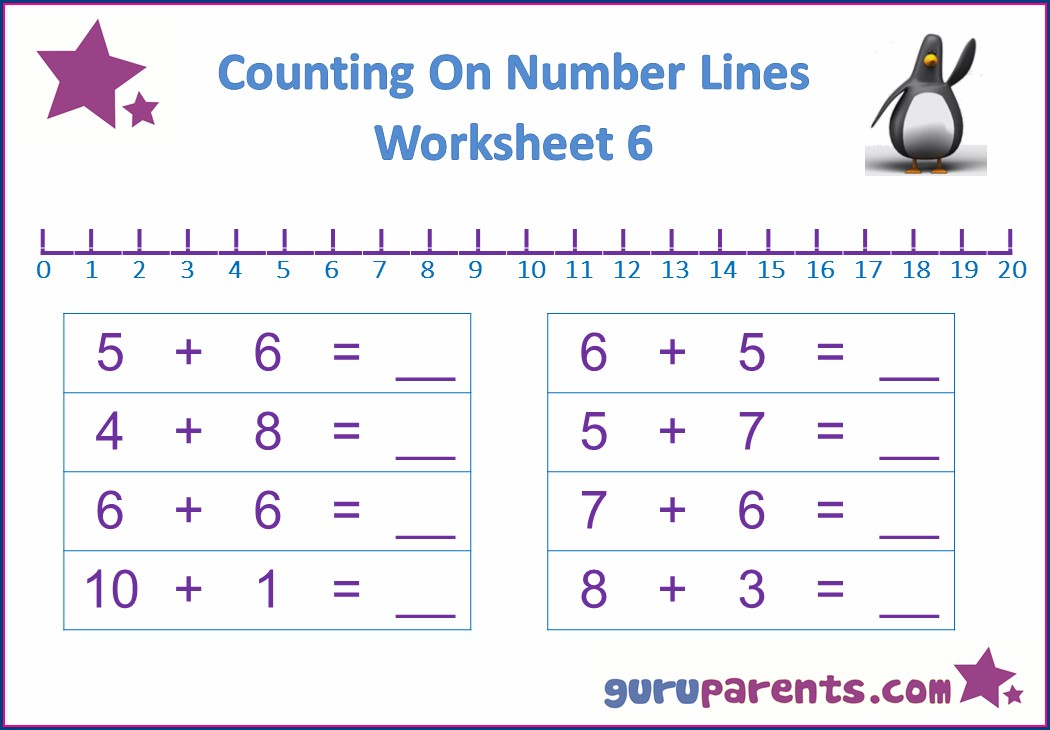 Math Worksheets With A Number Line