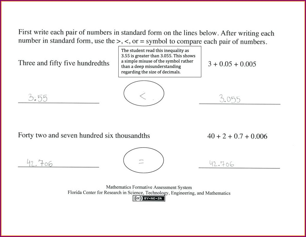 Math Worksheets Writing Numbers Expanded Form