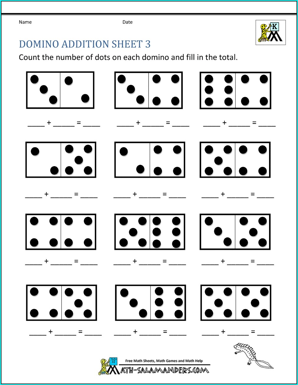 Maths Addition Worksheet For Kg2
