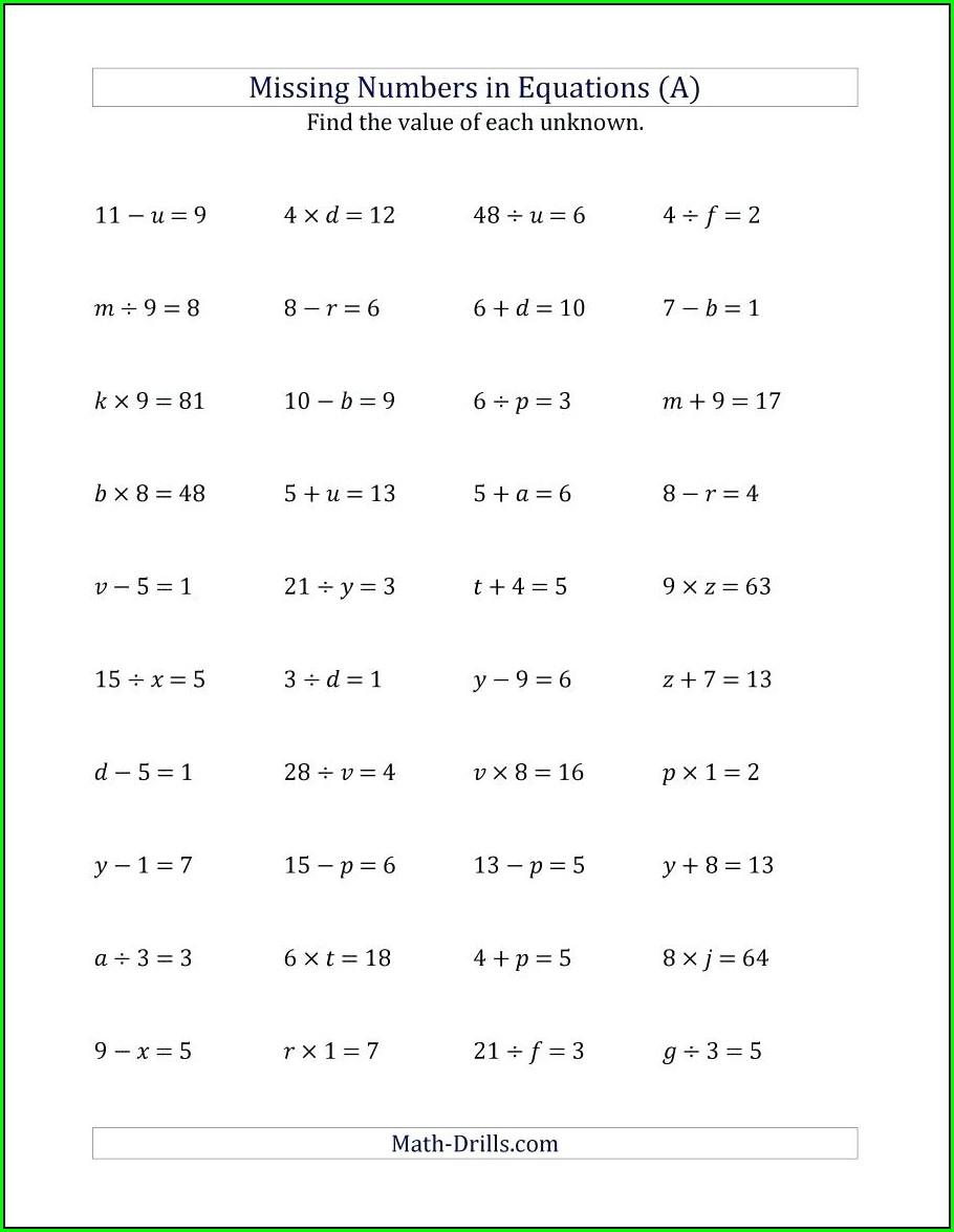 Maths Worksheet Generator Ks3
