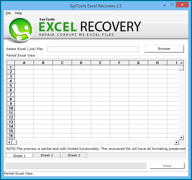 Microsoft Excel Corrupt File Repair Software