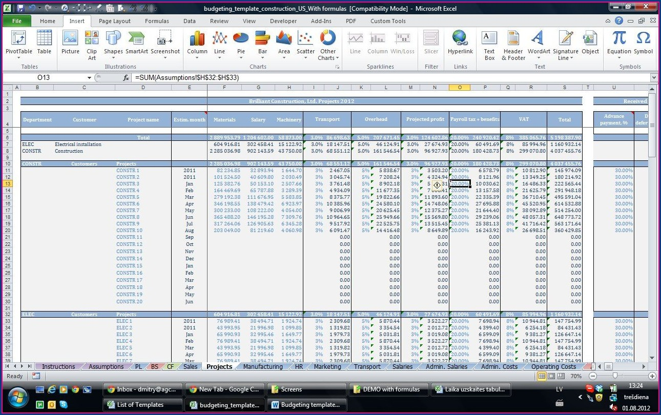 Microsoft Excel Templates For Small Business
