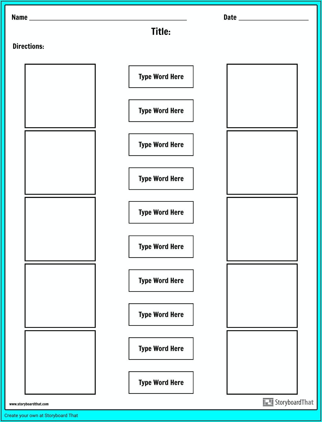 Microsoft Word Match Definition Worksheet