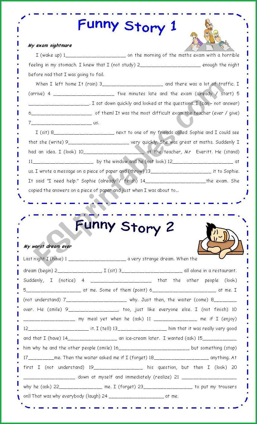 Mixed Tenses Worksheet For Class 5