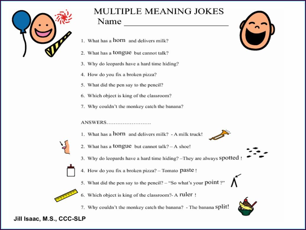 Multiple Meaning Words Worksheet For 3rd Grade