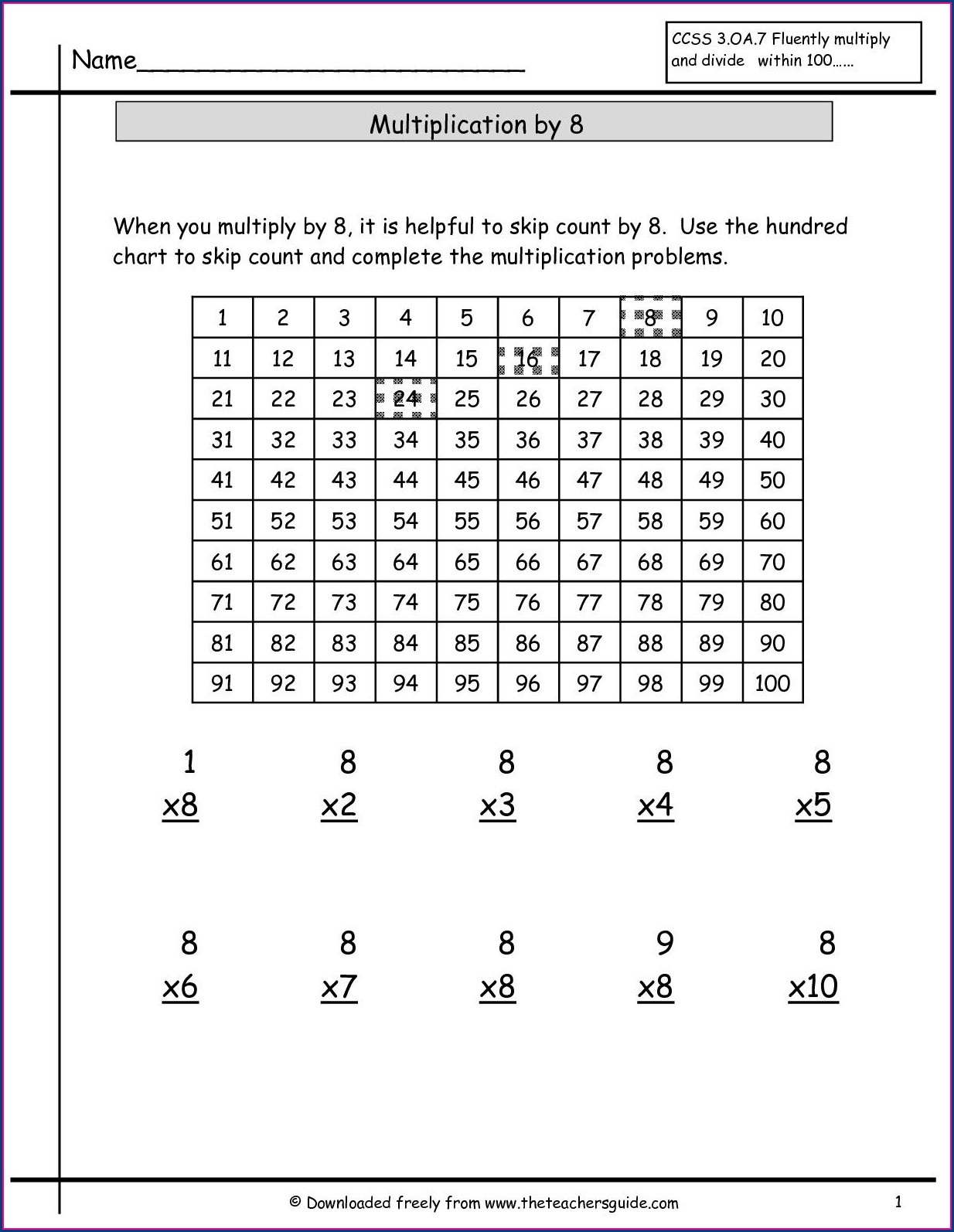 Multiplication 0 And 1 Worksheet