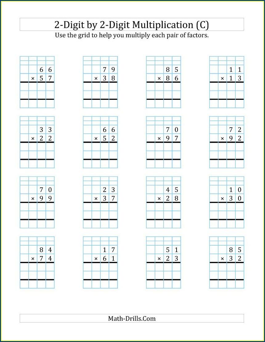 Multiplication Worksheet With Grid
