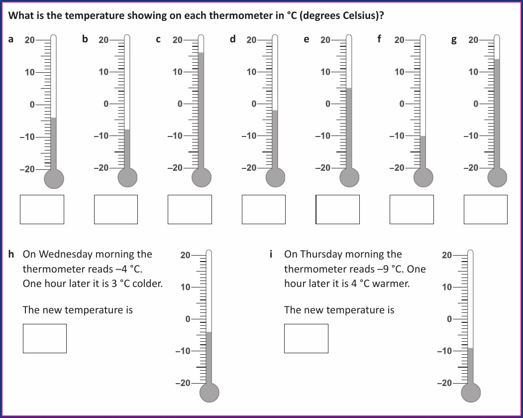Negative Number Worksheet Ks2