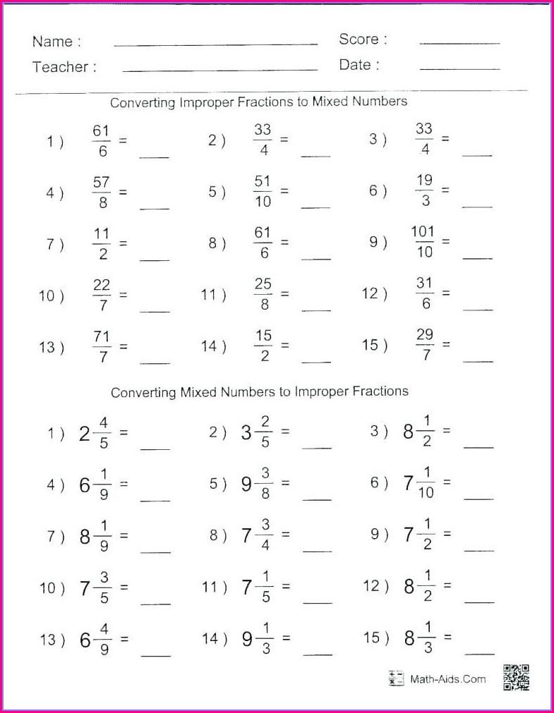 Negative Numbers Worksheet Maths Aid