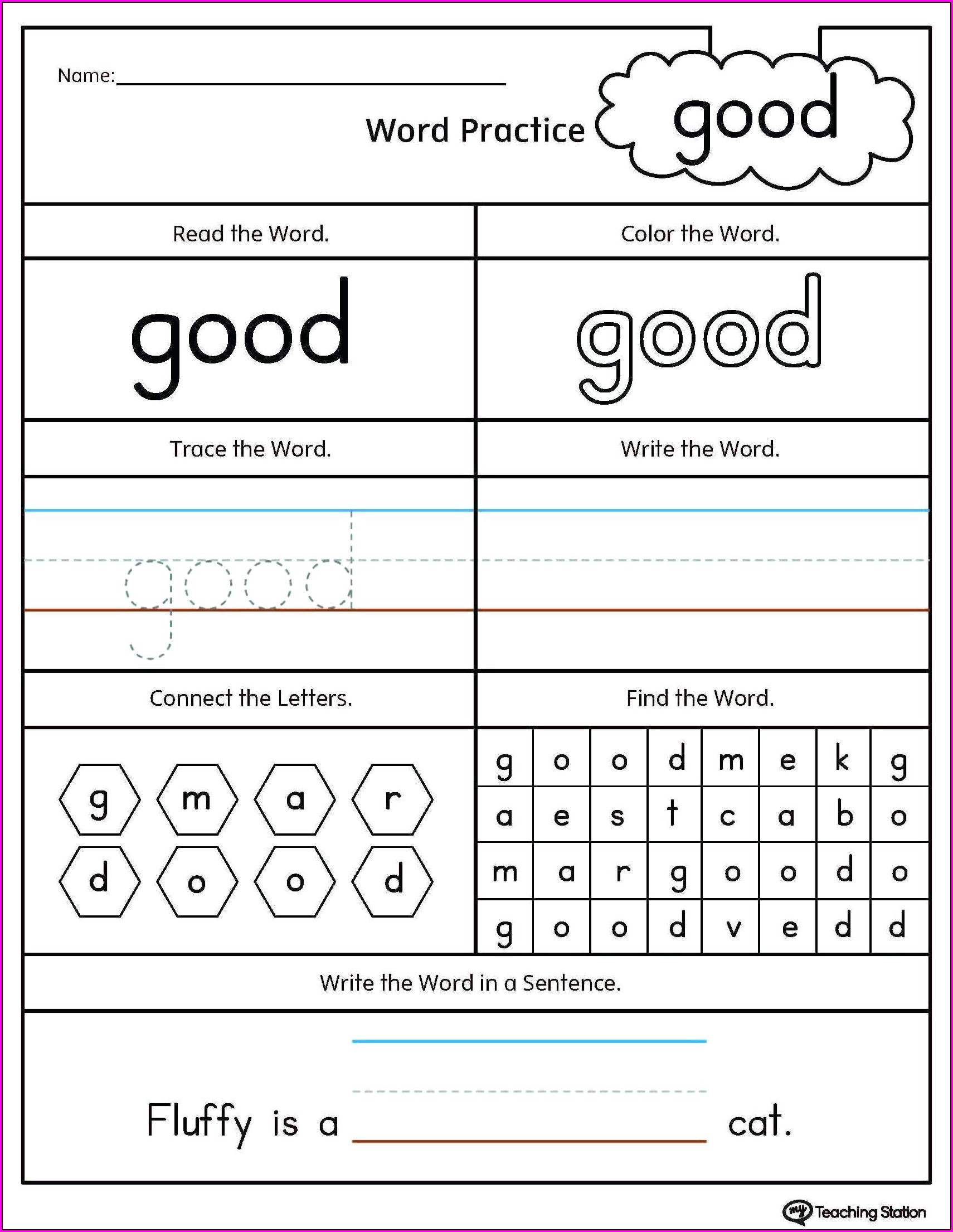 Number Tracing Worksheets 1 5