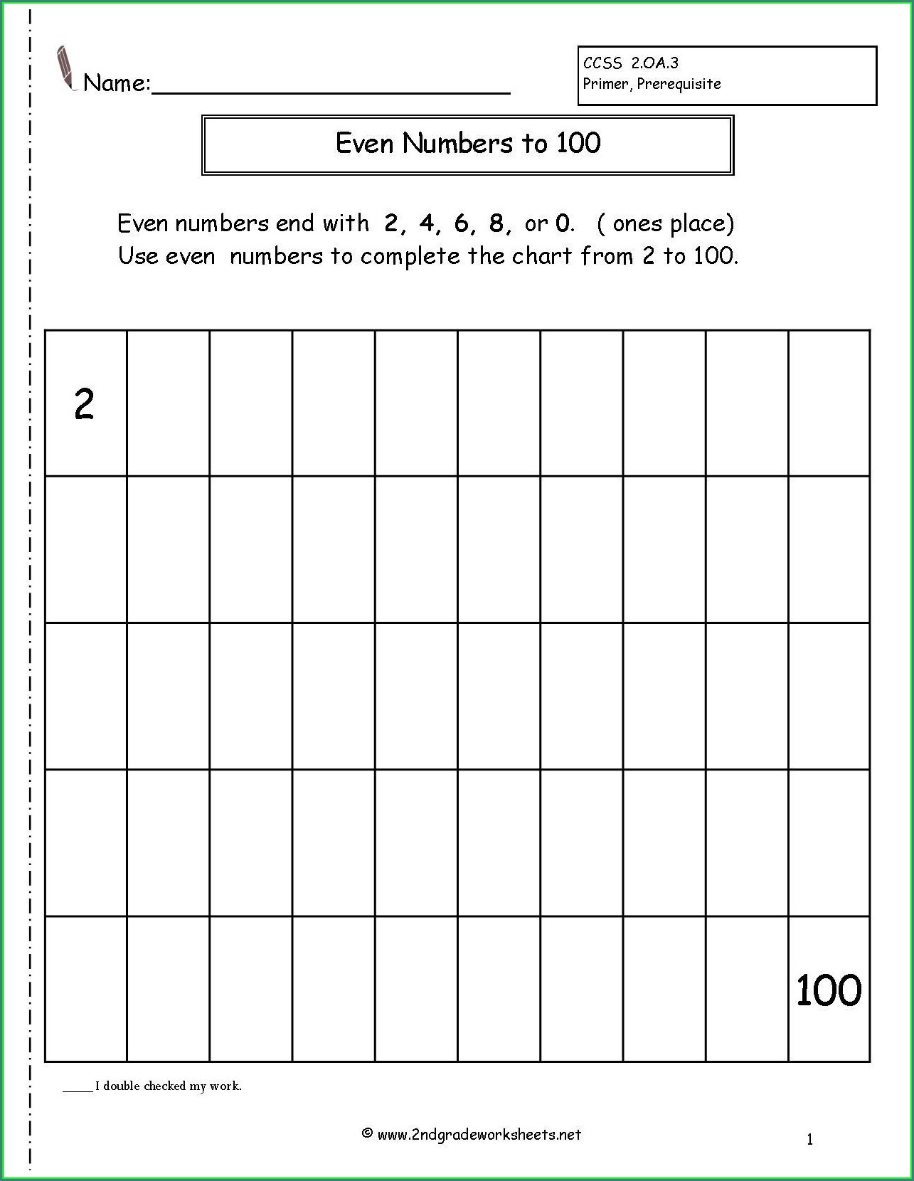 Odd Numbers Worksheet Grade 2