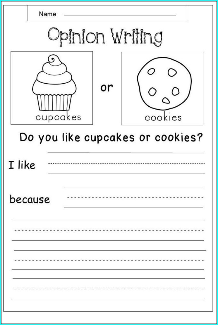 Opinion Writing First Grade Worksheets