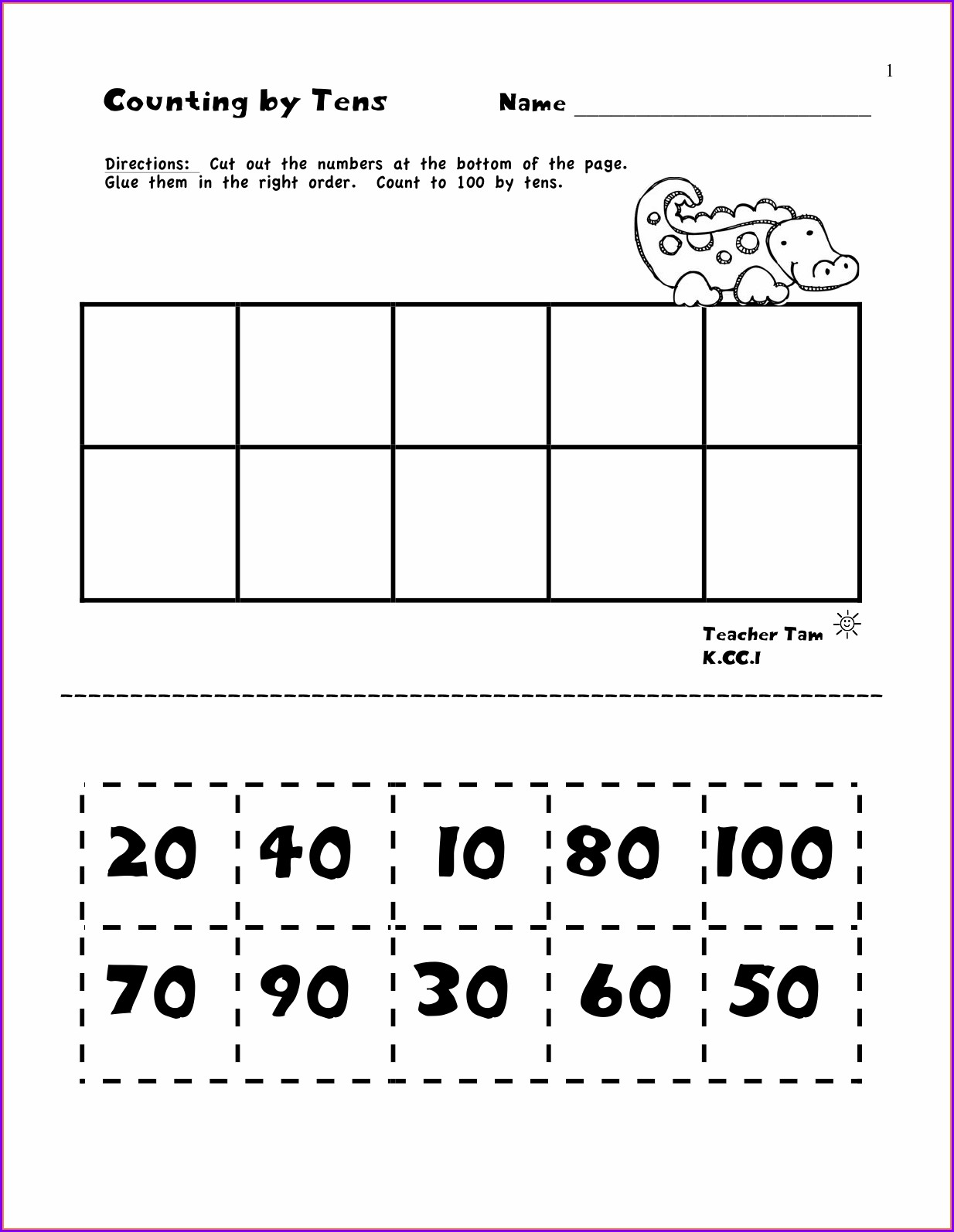 Ordering Numbers Worksheets For Kindergarten